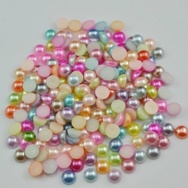 2000pcs se amestecă colour flatback semicircle perle pietre 3mm handmade diy ambarcațiunile de material / accesorii de îmbrăcăminte