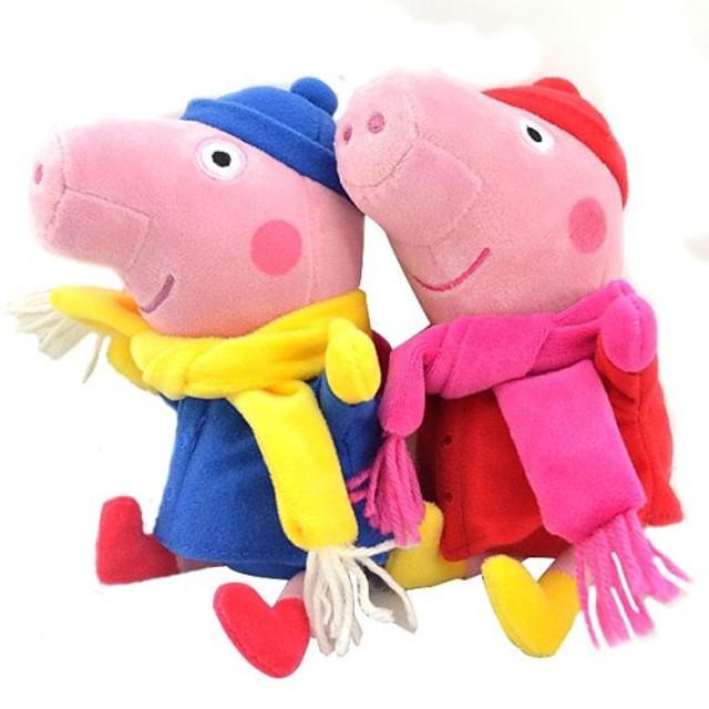 iarnă Peppa porc copil pepe george jucărie umplute păpușă de pluș (2 buc / lot)