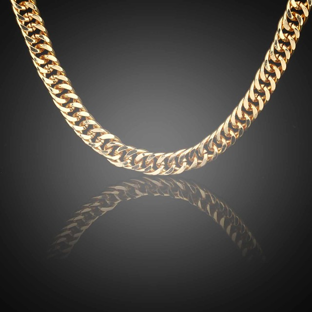 Chain Necklace Figaro Foxtail chain Ladies Gold Plated Alloy Golden Necklace Jewelry For Wedding Party Daily Casual