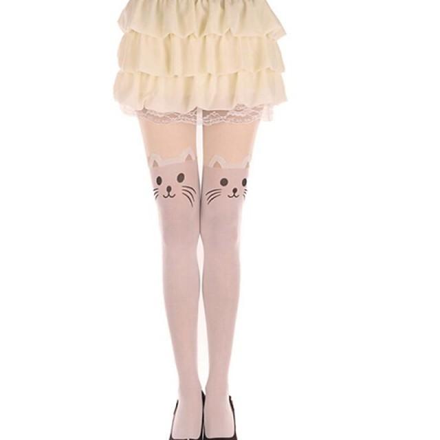 Prințesă Pentru femei Sweet Lolita Șosete / ciorapi Ciorapi strâmți, lungi Pisica Animal Catifea Lolita Accesorii / Înaltă Elasticitate