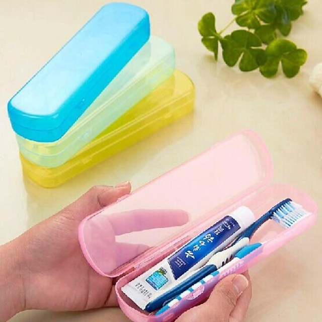 Cutie /Protecție Perie Dinți Călătorie Durabil Portabil pentru Articole ToaletăGalben Verde Albastru Roz