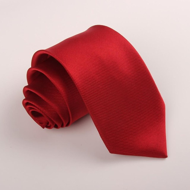 Men's Party / Work Necktie - Solid Colored