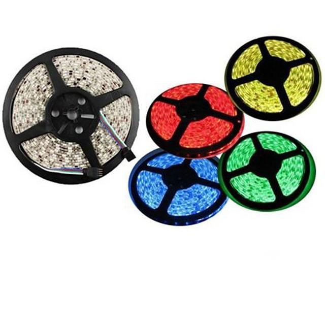 Fâșii De Becuri LEd Flexibile LED-uri Alb Cald Alb Verde Galben Albastru Roșu Ce poate fi Tăiat Rezistent la apă Auto- Adeziv De Legat DC