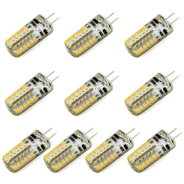 10pcs 3 W Becuri LED Bi-pin 260 lm G4 48 LED-uri de margele SMD 3014 Alb Cald Alb Rece 12 V / RoHs