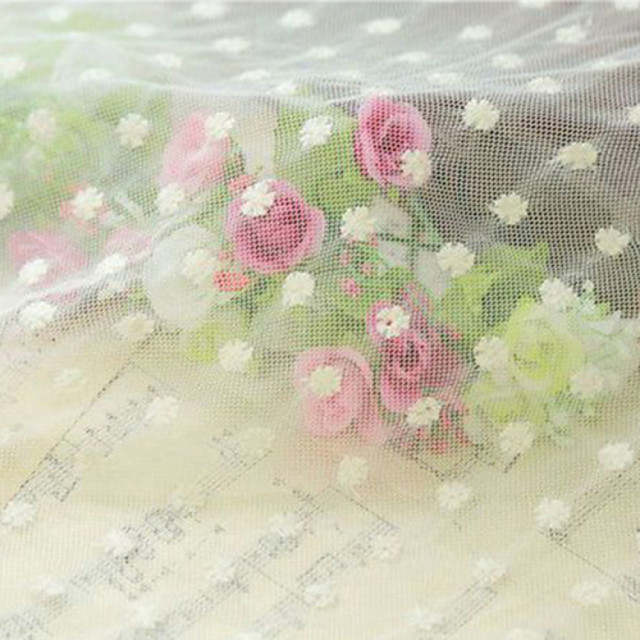Qihang 40*40CM Beautiful Lace Cloth Photography Background with  White Plum Blossom Pattern
