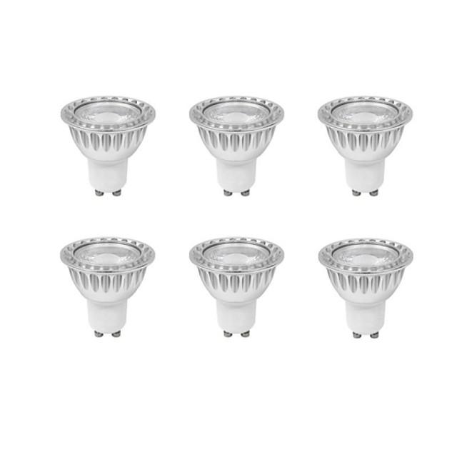 Spoturi LED 540 lm GU10 MR16 1 LED-uri de margele COB Intensitate Luminoasă Reglabilă Alb Cald 220-240 V / RoHs / CE