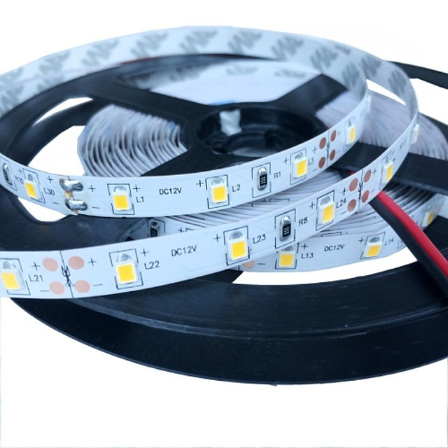 5m 7W 150x5050 smd 1200lm lumină flexibil alb cald de bază non-rezistent la apa eșuat stirp lampă 12V DC