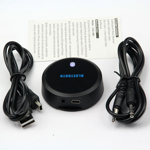 Bluetooth A2DP audio musica stereo ricevitore dongle apple iphone ipad iPod galassia