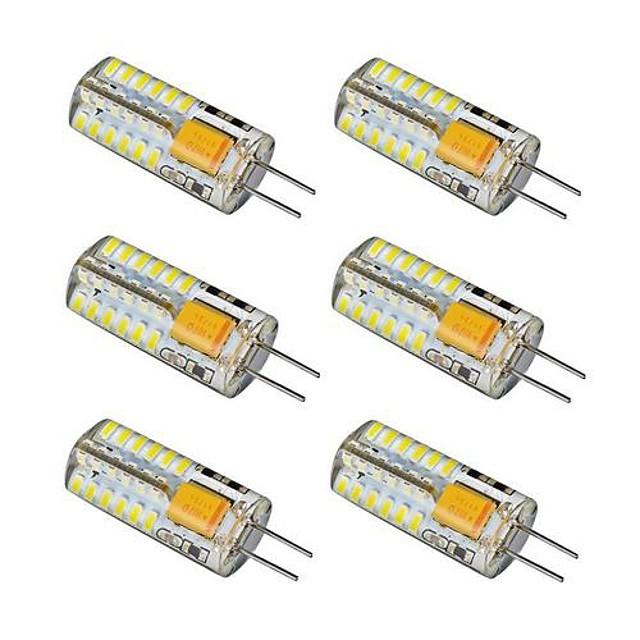 6pcs 2.5 W Becuri LED Bi-pin 150-180 lm G4 48 LED-uri de margele SMD 3014 Alb Cald Alb Rece 12 V / 6 bc / RoHs
