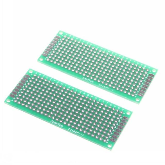3 x 7cm din fibră de sticlă de prototipuri PCB breadboard universal față-verso (2 buc)
