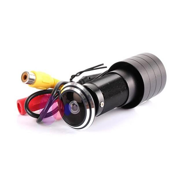 Cameră cu ușă mini 600tvl ccd culoare 1.7mm lentilă gaură cameră fisheye ntsc pal micro camerav automat impermeabil IP camera camera de supraveghere a seucrității