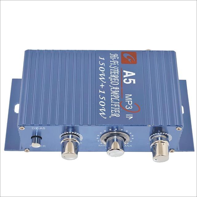 amplificator a5 150W hi-fi stereo pentru masina / motocicleta-albastru