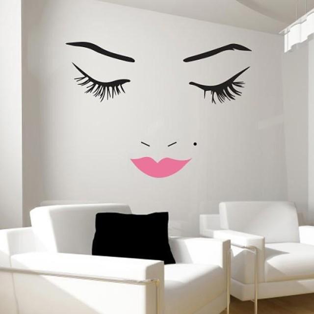 autocolante de perete decalcomanii de perete, pantofi de frumusețe moderne de perete. 1 buc