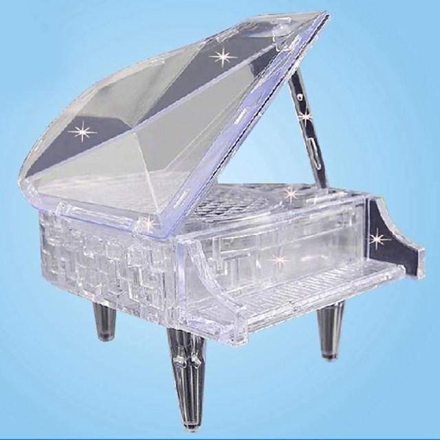 3D DIY Crystal Piano Assembling Building Blocks Music Box Game Toy for Kids(30 PCS)