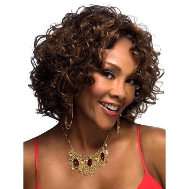 Peruci Sintetice Buclat / Clasic / Kinky Curly Stil Fără calotă Perucă Păr Sintetic 12 inch Pentru femei Perucă