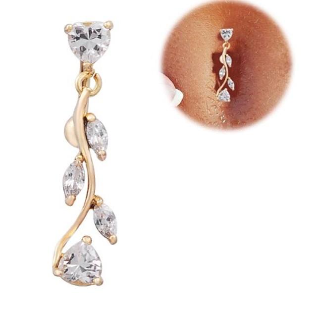 Pentru femei Bijuterii de corp Inel inelar / Piercing pe burta Diamant / Zirconiu Cubic Auriu femei / Lux Zirconiu / Zirconiu Cubic / Placat Auriu Costum de bijuterii Pentru Cadouri de Crăciun