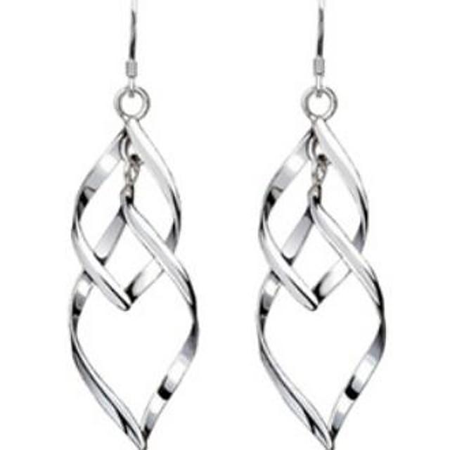 Pentru femei Cercei Picătură Hanging Cercei Răsucit femei Elegant De Fiecare Zi Plastic cercei Bijuterii Argintiu Pentru Nuntă Petrecere Zilnic Casual