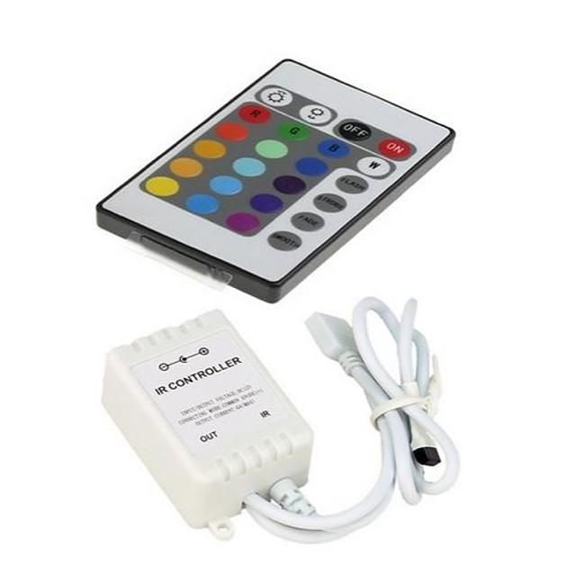 zdm dc12v 24 de telecomandă cu led-ir cu controler de la distanță cu casetă de control pentru 3528 5050 smd rgb led lumini de bandă