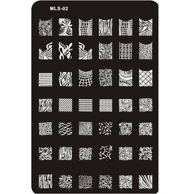 MetalPistol Pentru deget deget de la picior Încântător nail art pedichiura si manichiura Abstract / Clasic / Desen animat Zilnic / ștampilare Placă