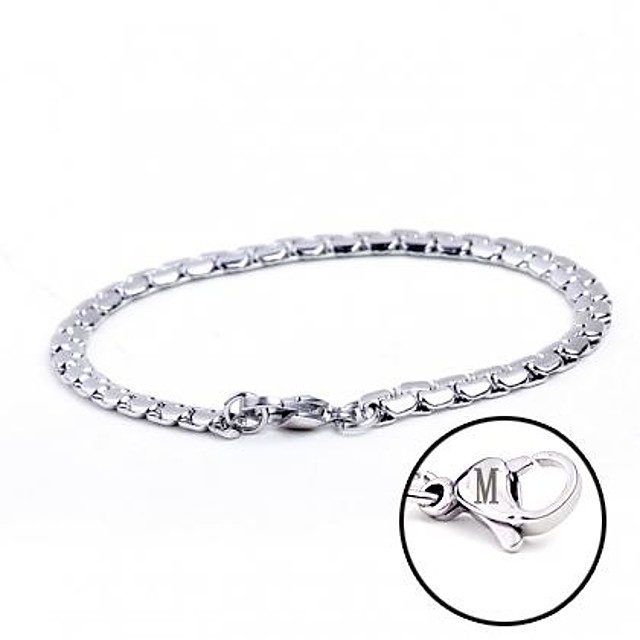 Personalized Gift Bracelets Stainless Steel Unisex Business Classic Lovers Holiday Modern Gift