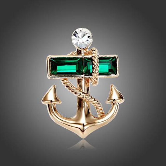 Pentru femei Verde Cristal femei Modă Broșă Bijuterii Verde Pentru Petrecere Zilnic Casual