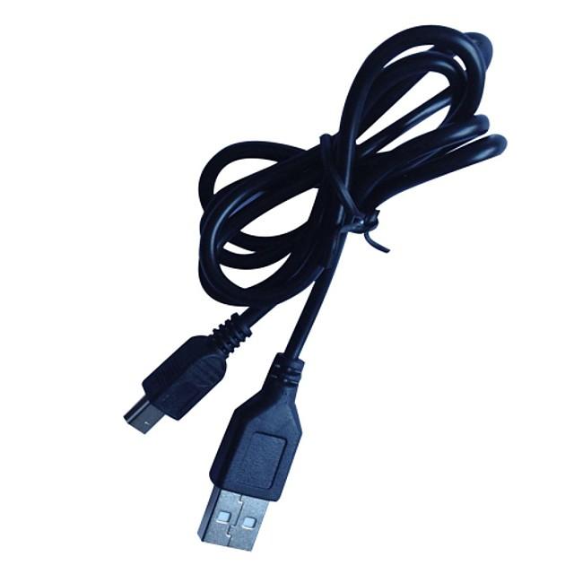 0.8m 3ft mini USB 2.0 de sex masculin pentru USB 2.0 de sex masculin cablu negru