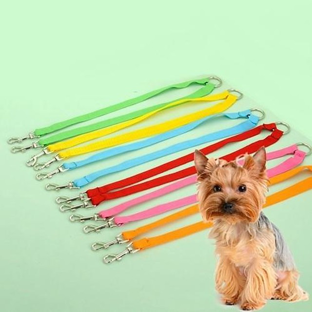 Pisici Câine Lese Ajustabile / Retractabil Cosplay Nailon Verde Albastru Roz