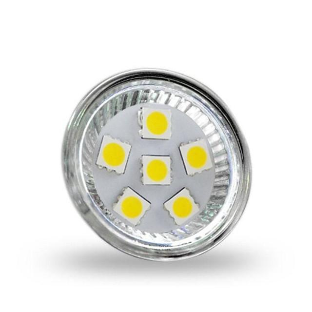1 W Spoturi LED 350 lm GU4(MR11) MR11 6 LED-uri de margele SMD 5050 Decorativ Alb Rece 12 V / RoHs