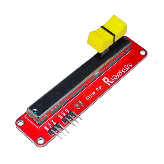 FR4 + aliaj de aluminiu de diapozitive electronic modul potentiometru pentru Arduino - rosu + negru + galben