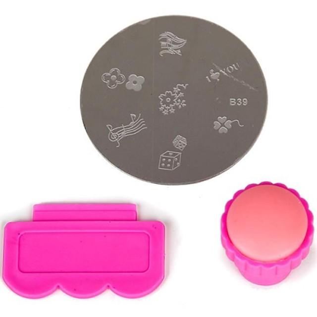 3 pcs Nail Art Kit Format Încântător nail art pedichiura si manichiura Fructe / Floare / Abstract Zilnic / Desen animat / Plastic / MetalPistol