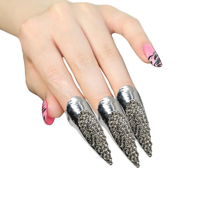 Ring Women's / Ladies' Rhinestone Silver / Alloy Silver / Alloy One Size / 5 Silver The color of embellishments are shown as picture.