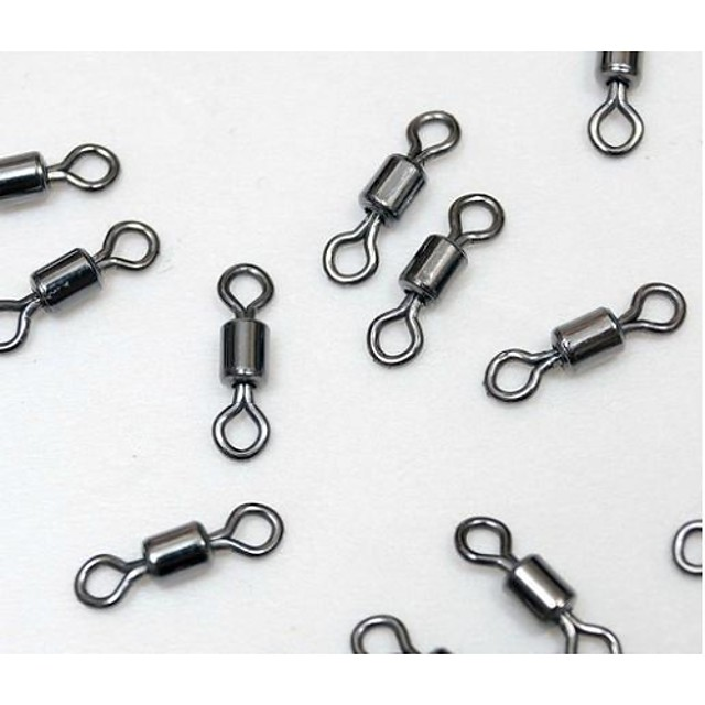 100 pcs Swivel Fishing Snaps & Swivels Stainless Steel Stainless Steel / Iron General Fishing Fishing Baits & Lure Fishing Tackle Fishing Apparel & Accessories Fishing