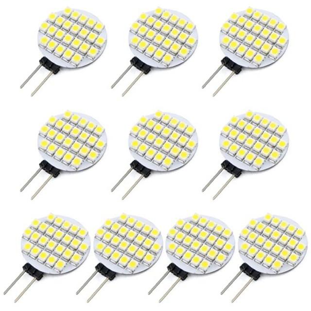 10pcs 1.5 W Becuri LED Bi-pin 118 lm G4 24 LED-uri de margele SMD 3528 Alb Cald Alb Rece 12 V / RoHs