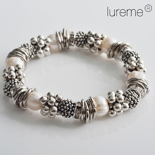 Pentru femei Brățări cu Mărgele Casul / Zilnic Modă Perle Bijuterii brățară Argintiu Pentru Cadouri de Crăciun Nuntă
