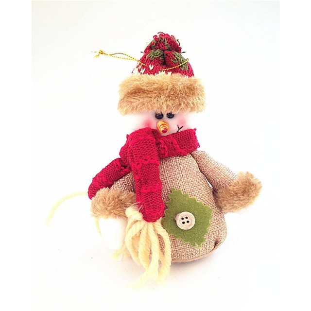 Cotton and Linen Snowman Small Doll Style Restoring Ancient Ways