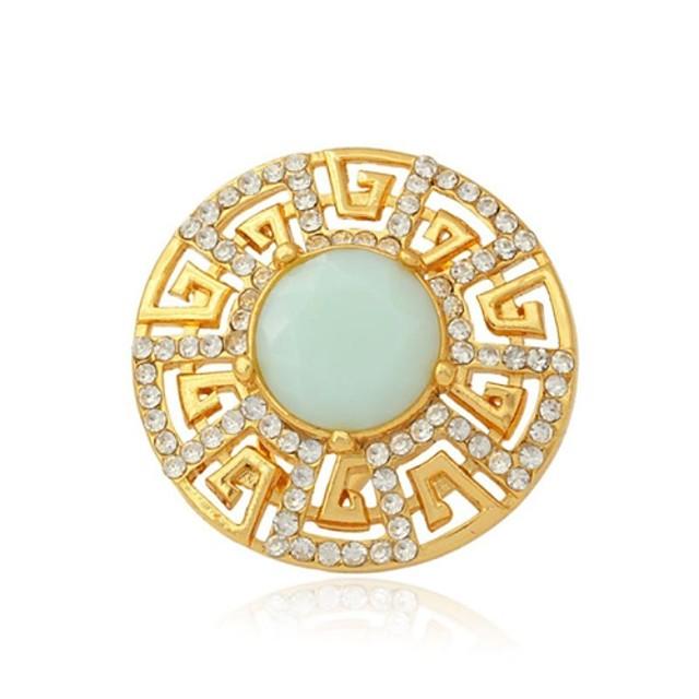 Pentru femei Inele Cuplu Band Ring Diamant sintetic Auriu Ștras Placat Auriu Opal femei Nuntă Petrecere Bijuterii