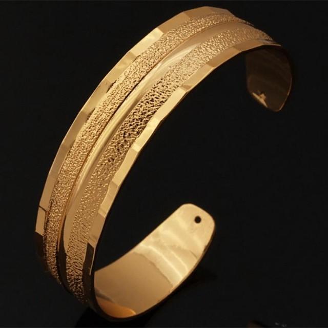 Pentru femei Brățări Bantă chunky femei Placat cu platină Bijuterii brățară Auriu / Argintiu Pentru Nuntă Petrecere Zilnic Casual Sport / Placat Auriu