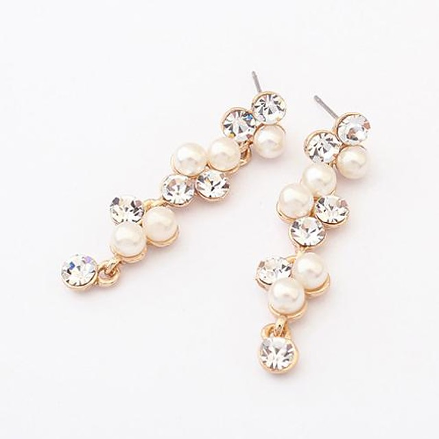 Transparent Alb European Modă Perle cercei Bijuterii Alb Pentru