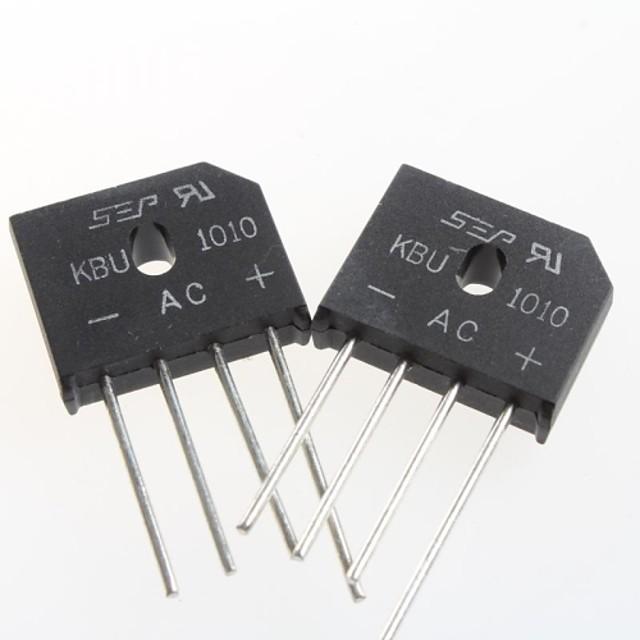kbu1010 platte brug gelijkrichter brug 10a / 1000v (5st)