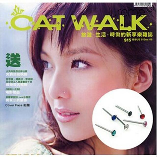 Pentru femei Bijuterii de corp Inelul nasului / nasul Stud / Piercing nas Modă Teak / Ștras Costum de bijuterii Pentru Zilnic 0.9*0.2*0.2 cm Vară