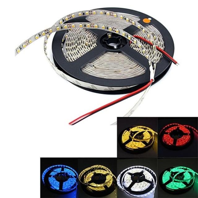 1 buc 5m benzi led led flexibile lumini tiktok flexibile IP20 non-impermeabile 300 leduri 2835 smd 8mm alb alb cald roșu dc 12v