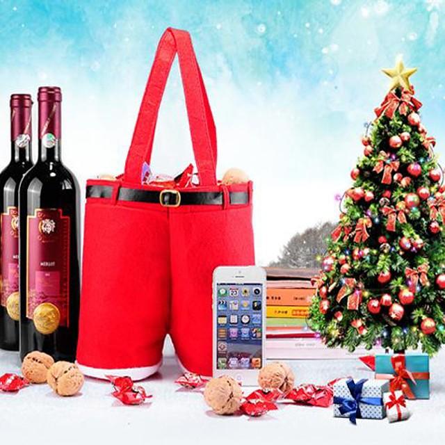 Crăciun pantaloni formă cadou de vin sac