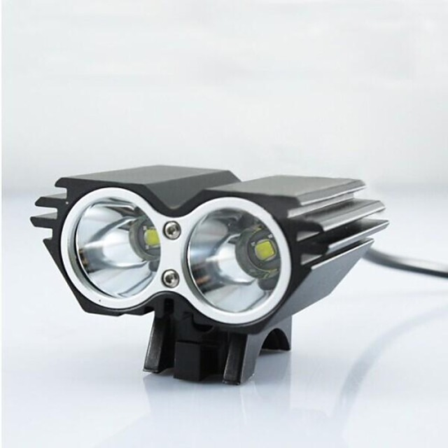 LED Lumini de Bicicletă Frontale Lumini de Bicicletă Iluminat Bicicletă Față LED Ciclism montan Bicicletă Ciclism Rezistent la apă Foarte luminos Portabil Alarmă 18650 2500 lm Baterie Camping / IPX-4
