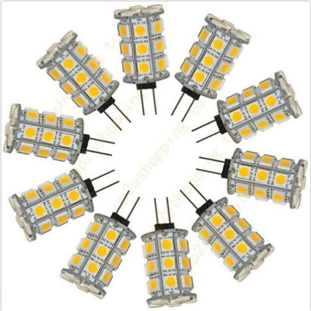 10pcs 2.5 W Becuri LED Bi-pin 200 lm G4 27 LED-uri de margele SMD 5050 Decorativ Alb Cald Alb Rece 12 V / RoHs