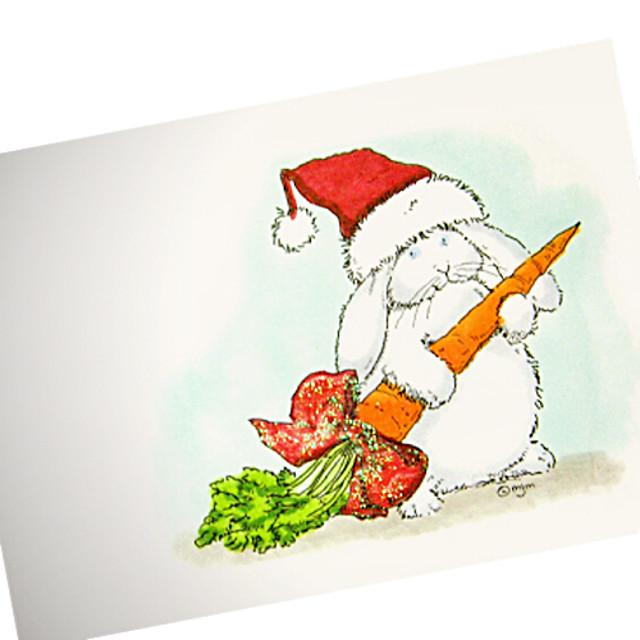 manual drăguț pictat de Crăciun pălărie carte de iepure