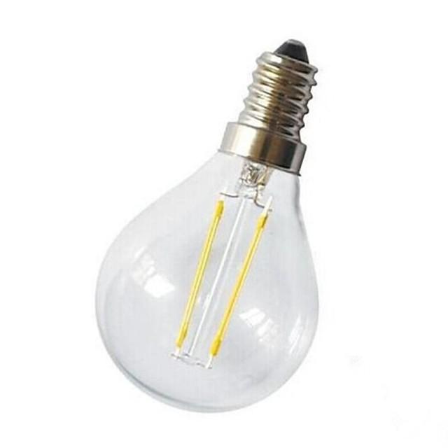 1 buc Bec Filet LED 220 lm E14 G45 2 LED-uri de margele COB Decorativ Alb Cald 220-240 V / # / CE / RoHs