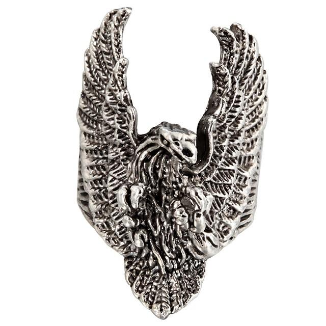 Pentru femei Inel de declarație femei Neobijnuit Design Unic Modă Oțel titan Inele la Modă Bijuterii Argintiu Pentru Zilnic Casual 8