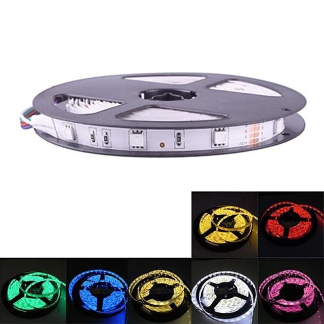 7 culori opționale 5m 150x5050 SMD LED-uri de bază non-waterpfoor benzi flexibile lumina 12V DC