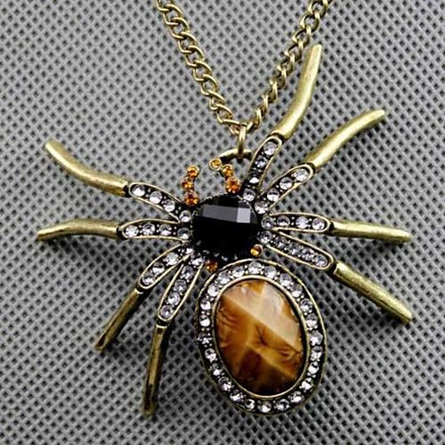 Women's Pendant Necklace Spiders Animal Ladies Vintage Fashion Alloy Screen Color Necklace Jewelry For