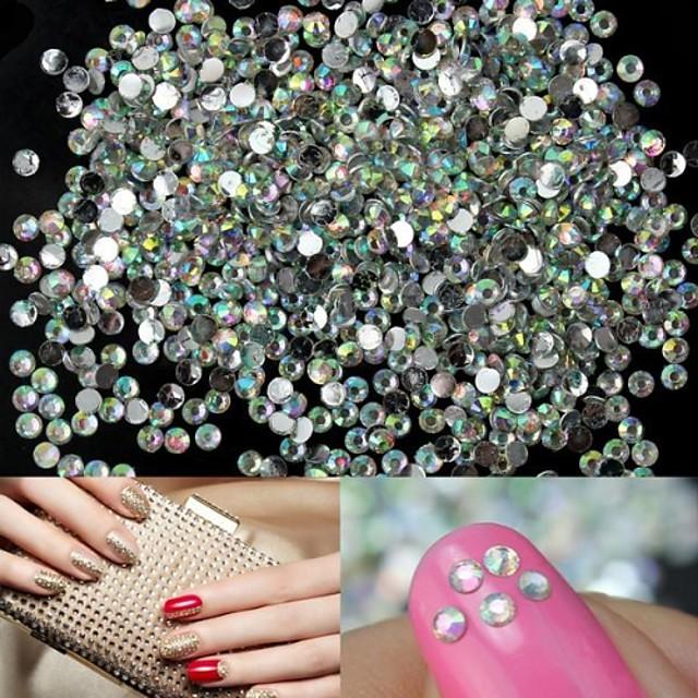 1400 pcs Teracotă Bijuterie unghii Ștrasuri Pentru deget nail art pedichiura si manichiura Nuntă / Unghiul de bijuterii